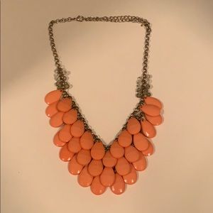 Francesca's Coral Statement Necklace
